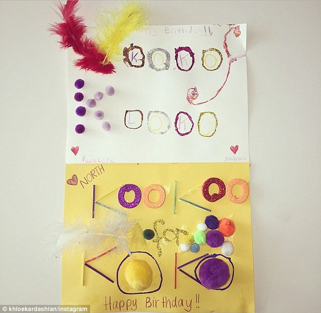 Khloe Kardashian shares birthday cards from North West ...