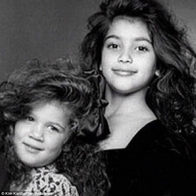 Kim & Khloe Kardashian Throwback Photo,31st Birthday
