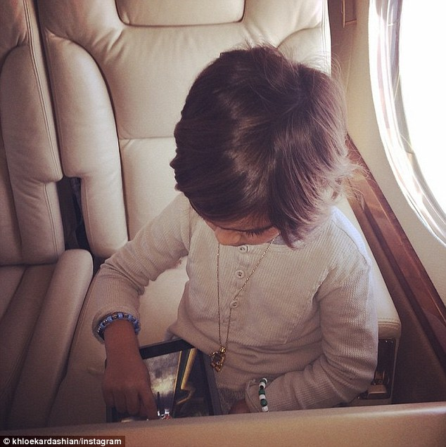 Family: Khloe's nephew Mason was one of the family members to give her a birthday card