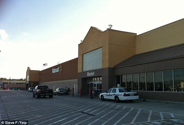 Store: The Islamic State-themed cake was apparently baked by staff at this Walmart (pictured) in Slidell, LA