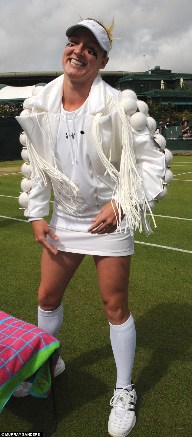 In 2011, Bethanie had a laugh with the dress code by wearing a jacket with white tennis balls on