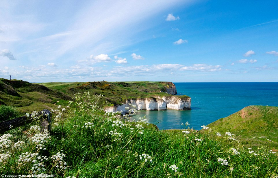 Exotic holiday destination?Flamboroughin the East Riding of Yorkshire looked stunning as the sun shone brightly yesterday morning