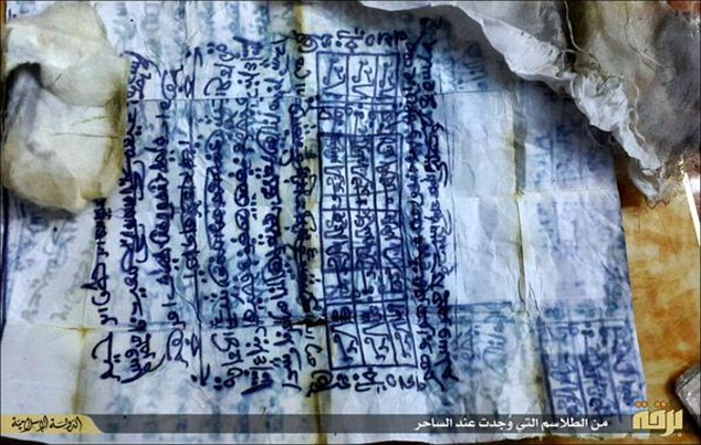 ISIS in Libya claimed that this document, heavily inscribed in Arabic, represented proof that the man practiced black magic