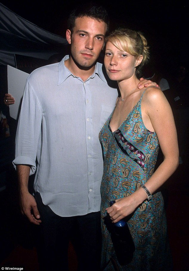 'Super intelligent': Ben Affleck had a three-year romance with Gwyneth Paltrow (1997 to 2000) who called him 'super intelligent' but not exactly relationship material; they were pictured in 1998