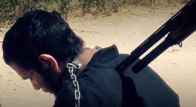 Network: The gruesome footage was then shared online by Jaysh Al-Islam, just as ISIS has done with some many videos in which its militants are the executioners