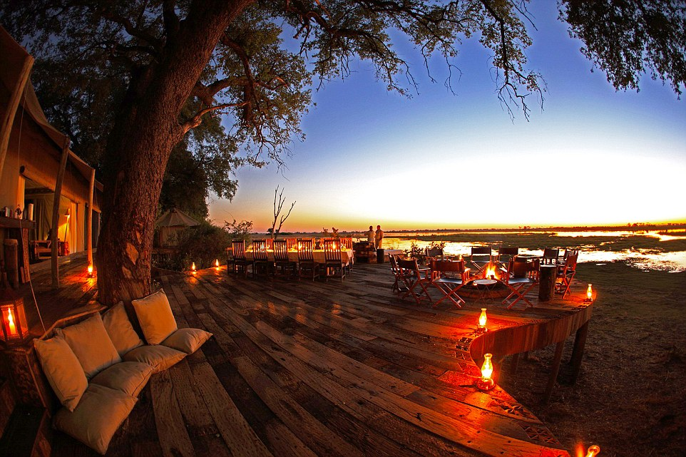 Edging the shores of a wildlife-rich lagoon in the Okavango Delta and surrounded by more than 320,000 acres of private, protected land, Zarafa's spacious tents offer an intimate experience with one of Africa's great wildernesses