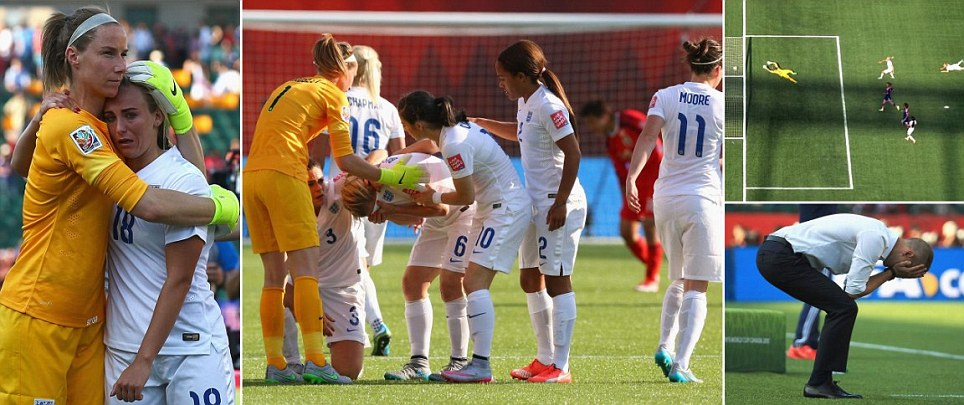 England crash out of Women's World Cup 2015 after Laura Bassett's own goal