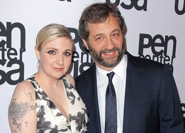 Tavi's friend Lena Dunham (left) and director Judd Apatow (right), who have contributed to Rookie.'I have asked her for career advice,' she said