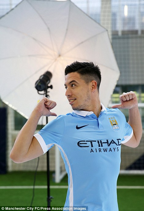 Nasri strikes a pose while modelling the stylish new strip