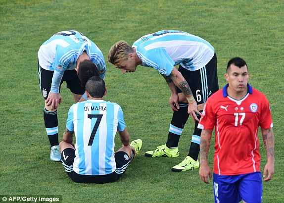 Image result for Angel Di Maria Argentina losing final