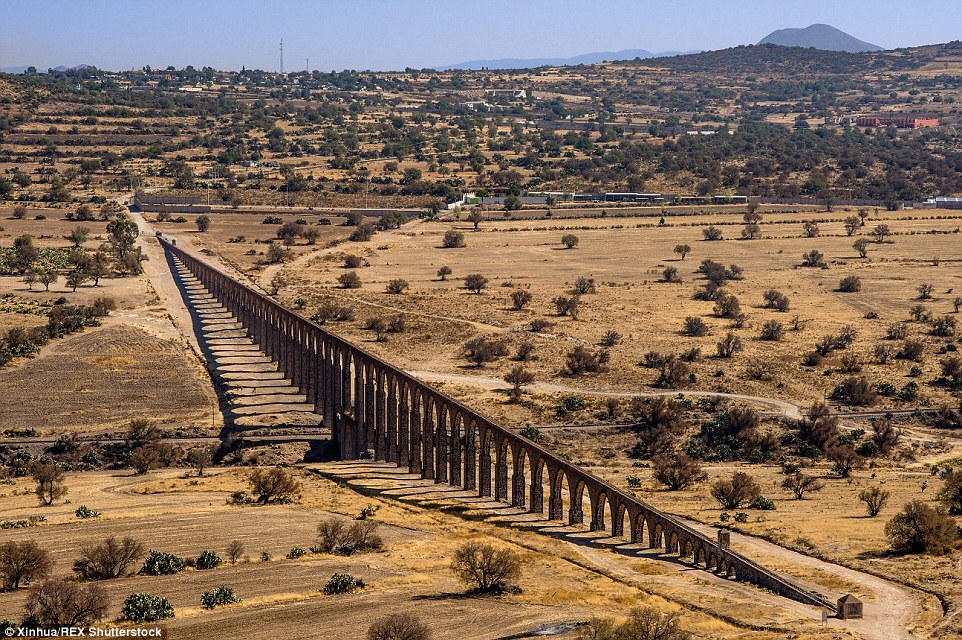 Dating back to the 16th century, the Aqueduct of Padre Tembleque Hydraulic System is located on the central Mexican plateau