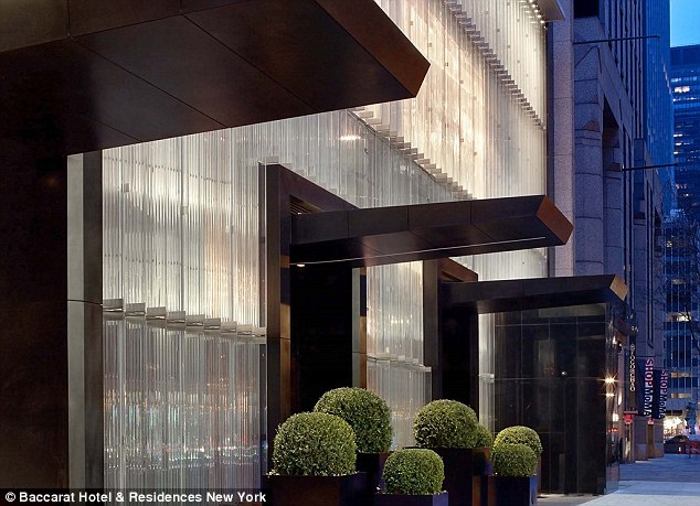 The Baccarat Hotel is one of the most luxurious hotels in New York