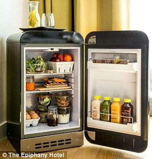 Here, guests have access to a fully-stocked Fresh Fridge, which can be delivered on demand.