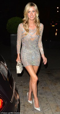 Just married: Nicky Hilton was seen returning to Claridge's after her wedding reception at Kensington early Saturday