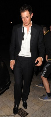 Good party: James Rothschild arrived with his new wife in the same tuxedo he had been wearing all night