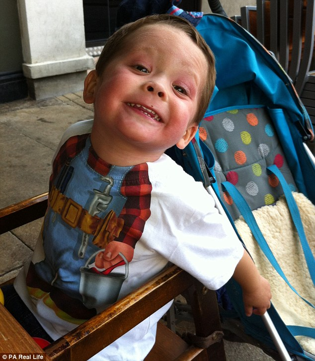 'We've lost part of Morgan's personality to the eczema,' Mrs Bishop said, who says he has rare moments of being happy and chatty, as the condition leaves him irritable and miserable
