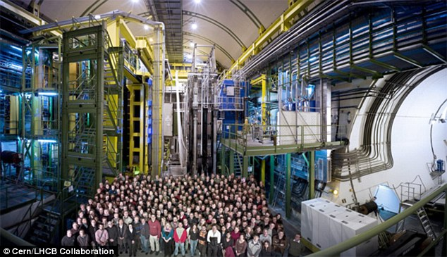 The new class of particle was detected by Cern's Large Hadron Collider beauty (LHCb) experiment at the LHC in Switzerland. The LHCb experiment (pictured) specialises in investigating the slight differences between matter and antimatter