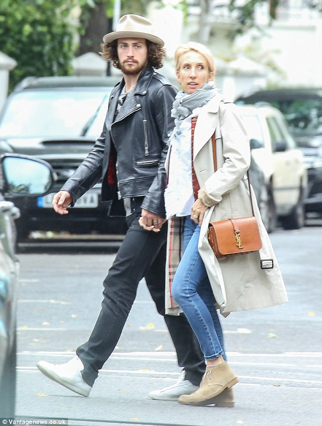 Aaron Taylor-Johnson and wife Sam stroll hand-in-hand in ...