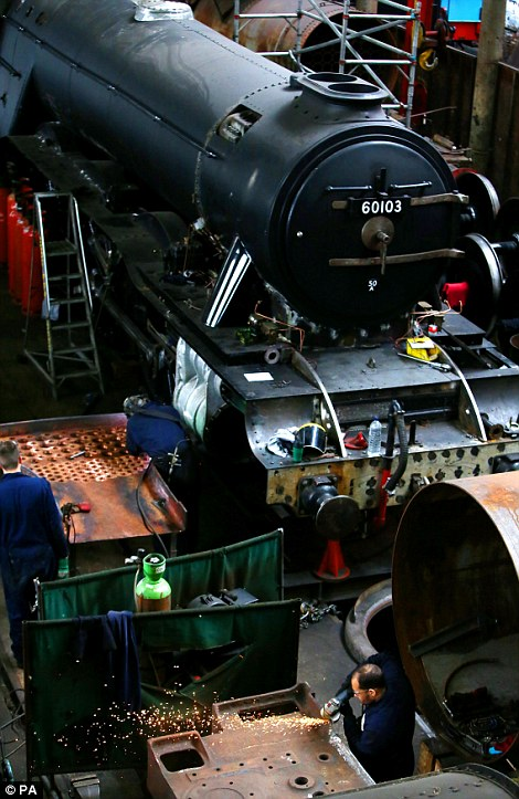 Restoration work on the Flying Scotsman