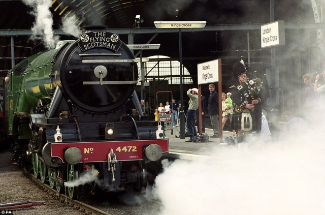 It is hopes the iconic steam train will return to scenes such as this, pictured in 1999 at Kings Cross Rail Station in London