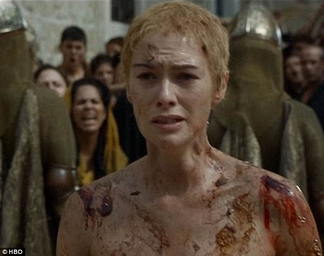 Mimic: Cersei Lannister (pictured), a lead character in the popular fantasy-drama Game of Thrones, was forced to strip off and walk through the streets during the show to 'atone for her sins'
