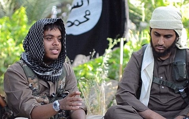 Sick: Reyaad Khan (left) and Nasser Muthana (right) - both from Cardiff - featured in a propaganda video last June in which they urged Britons to travel to Syria