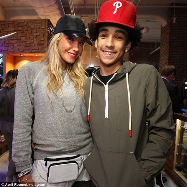 Baby-mama and baby: It's hard to believe the Bronx-born heartthrob has a 16-year-old son Jordan with his ex-partner, celebrity stylist April Roomet