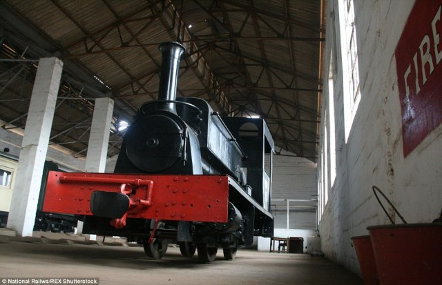 A century old: 'Nellie' the works shunter was built in Britain in 1915 and shipped over to Sierra Leone before falling into disrepair