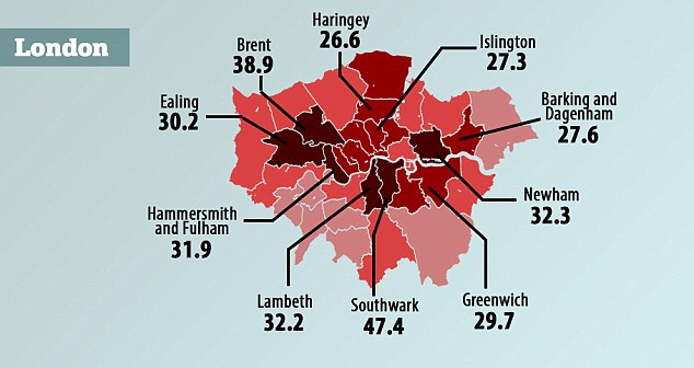 An estimated 137,000 women and girls are affected by FGM across the country, with the highest rate found in the London borough of Southwark