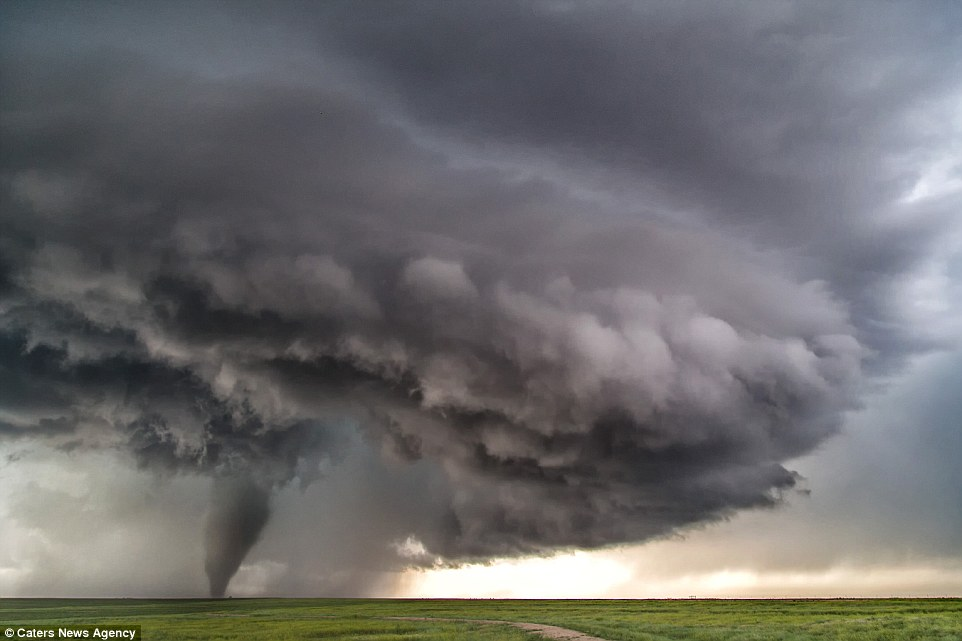 The weather enthusiast said it was one of the most prolific days he has ever experienced in his 19 years as a tornado tracker