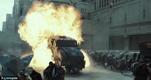 Revenge: 'Nothing good is safe while he's alive,' Katniss says in a voiceover. 'Snow has to pay for what he's done.'