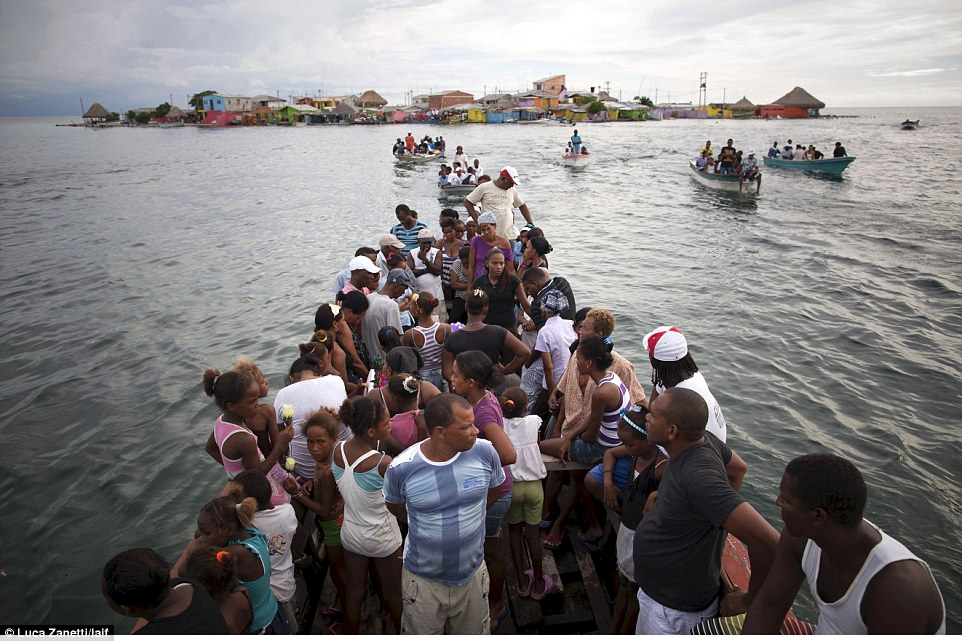 Since the islet lacks basic amenities except for a school most of the locals work on nearby Caribbean islands