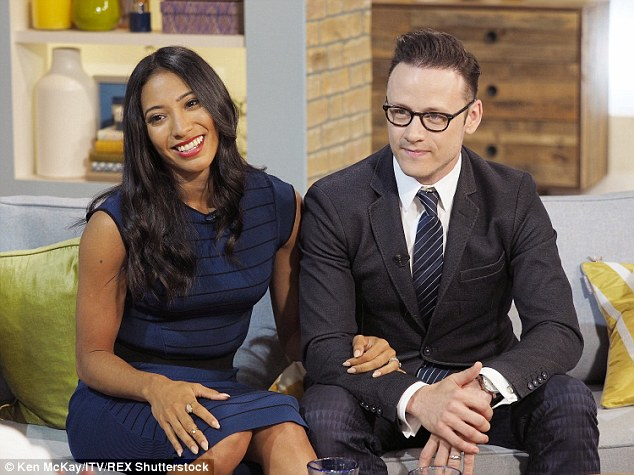 Wedded bliss: Newlyweds Kevin Clifton, 32, and Karen Hauer, 33, were still very much in honeymoon mode when they appeared on This Morning on Friday