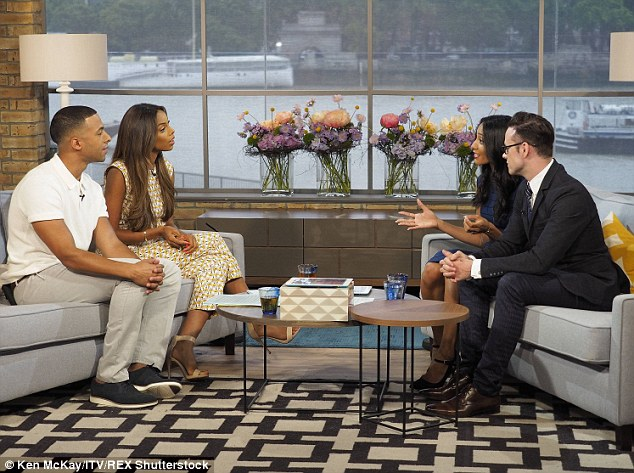 Emotional: Kevin proposed to Karen on her birthday in April 2013  and Rochelle had a tear in her eye as they recounted the story