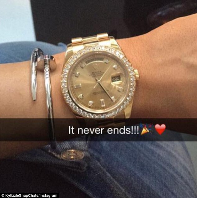 Tyga Presents Kylie Jenner With Diamond Rolex At Teens