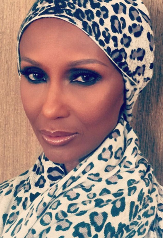 Ageless: The supermodel shared a selfie of herself in a headscarf and barely looked a day older then when she first hit the fashion scene