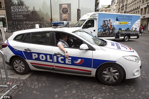 Attack: Paris has been on a maximum security alert since the Charlie Hebdo shootings in January this year