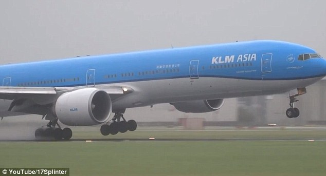 The difficult landing occurred as the Netherlands was walloped by a violent summer storm