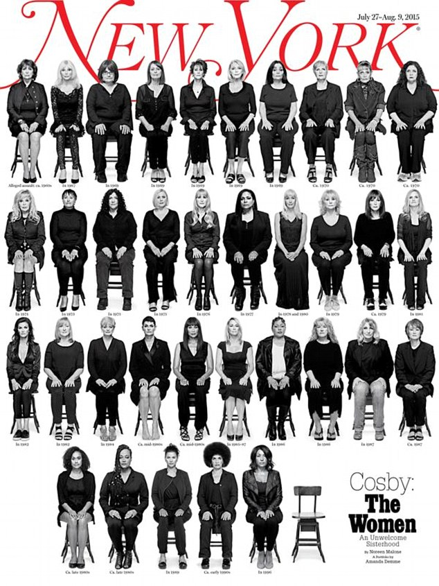The 35 women, aged from their early 20s to 80, have bravely come forward to be pictured for New York magazine and have revealed details of their alleged encounter with the disgraced comedian. The issue is set to be released on Monday