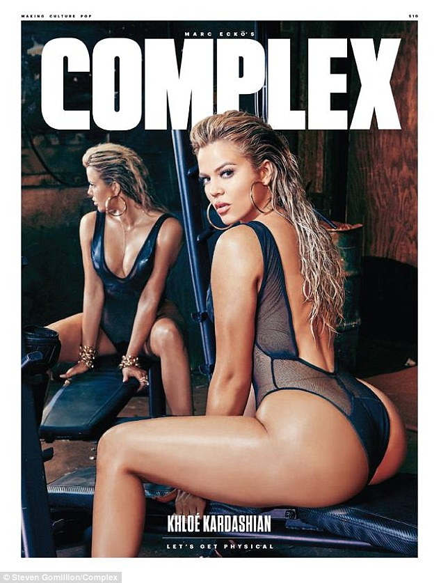 Let's get physical: The 31-year-old reality star admitted she was 'seriously obsessed' with the sporty spread shot by Steven Gomillion for the mag's August/September edition