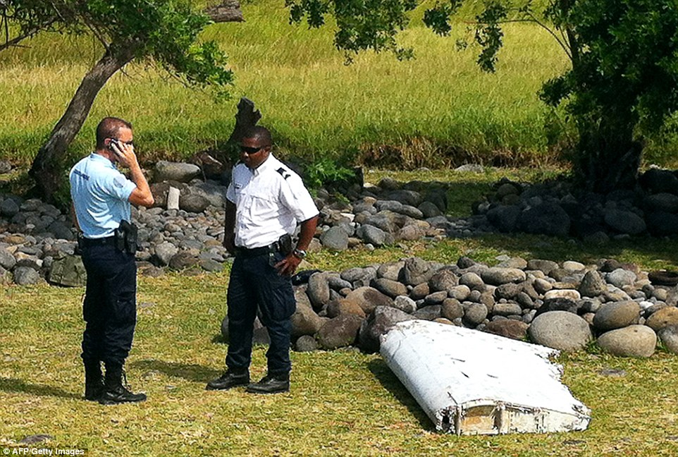 Officials are examining debris found washed up on Reunion island east of Madagascar to determine if it is related to the missing MH370