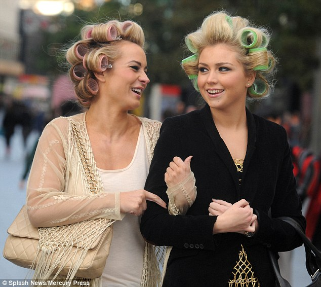 Would You Go Out With Your Hair In Curlers Daily Mail Online