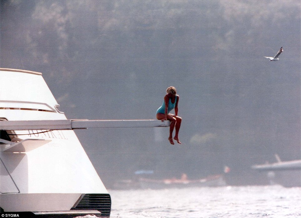 Mohamed Al Fayeds Relaxes On A Yacht HALF Of Diana And Dodis Daily Mail Online