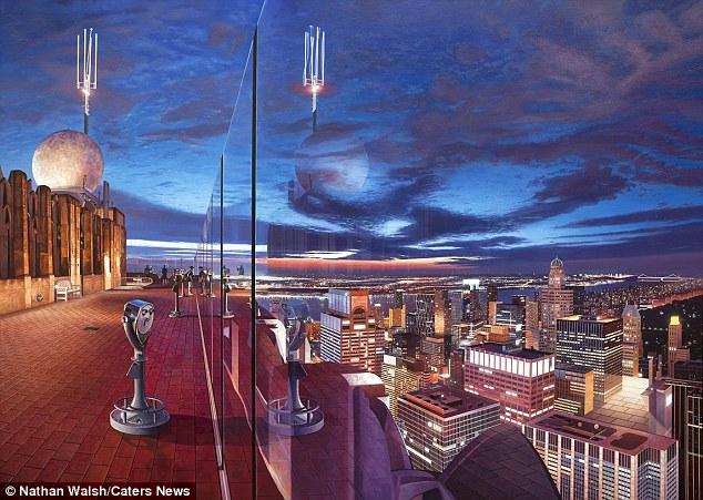 Nathan está esperando para realizar uma exposição individual em outubro de 2016, com as suas obras mais recentes ter um foco maior sobre o clima e atmosfera.  Na foto é o Rockefeller Center, em Nova York