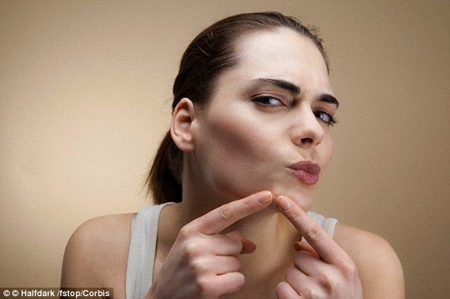 Acne on the chin might indicate polycystic ovarian syndrome (PCOS), as women with with PCOS tend to have high levels of testosterone which promotes oil production and pimple formation