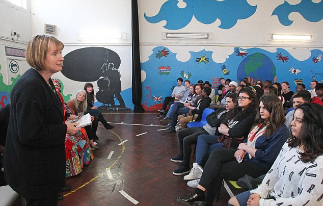 Government sources said the closure was triggered after the Cabinet Office demanded the return of a £3million grant it gave last week. Acting Labour leader Harriet Harman is pictured visiting the charity in April