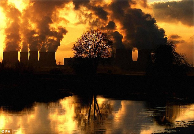 Carbon dioxide emitted into the atmopshere by burning of fossil fuels, like at the power station above, is known to act like a greenhouse gas and contribute to global warming. It can also dissolve in sea water, causing the acidity of the oceans to rise, which has led to concerns about the impact this could have on marine life