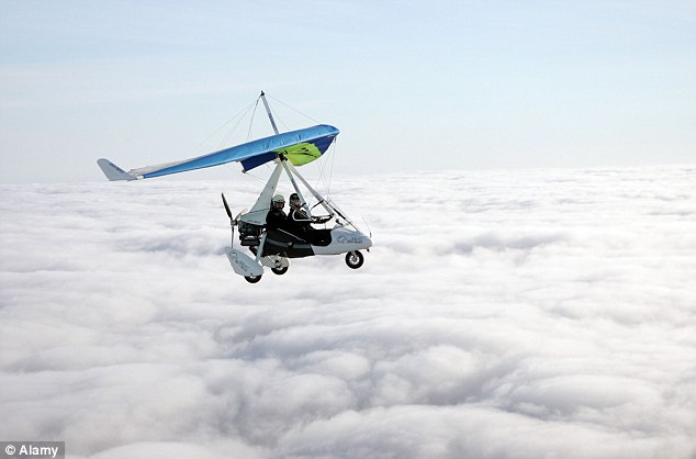 The Air Accidents Investigation Branch said the plane, travelling from Milan, overtook a microlight aircraft (file picture) after beginning its descent from cruise level