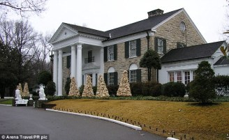 Kirk says the book is lighthearted stories of her time with Elvis. She moved to Graceland, pictured, in 1972 after becoming his regular nurse