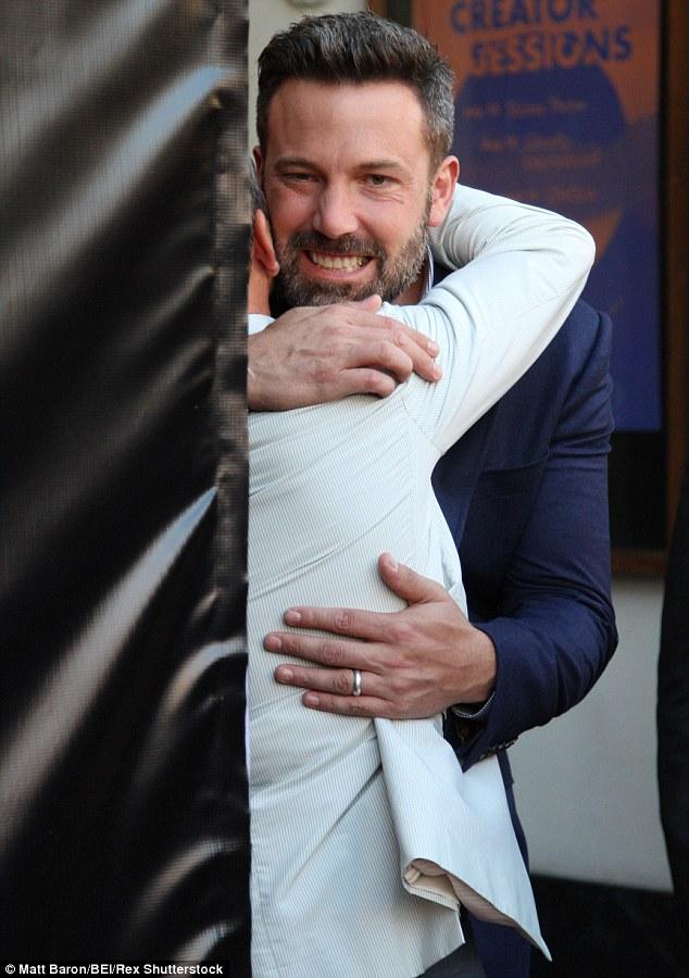 Ben Affleck Wears Wedding Ring As He Joins Matt Damon At